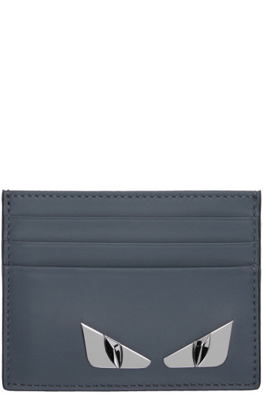 Fendi - Blue 'Bag Bugs' Card Holder