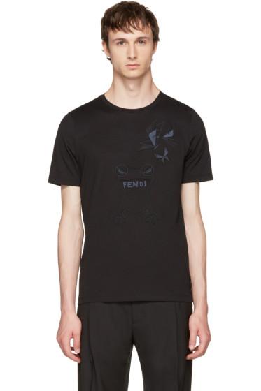 Fendi - Black Butterfleyes & Frogs T-Shirt