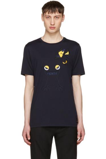Fendi - Navy Butterfleyes & Frogs T-Shirt