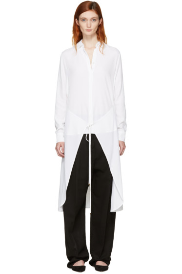 Rosetta Getty - White Apron Wrap Shirt