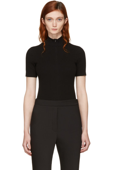 Rosetta Getty - Black Zip-Up Turtleneck