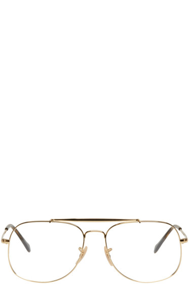 Ray-Ban - Gold 'The General' Aviator Glasses