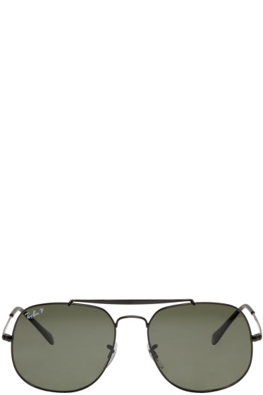Ray-Ban - Black General Aviator Sunglasses