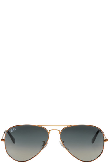 Ray-Ban - Bronze & Grey Gradient Aviator Sunglasses