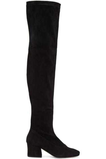 Dorateymur - Black Suede Sybil Leek II Over-the-Knee Boots