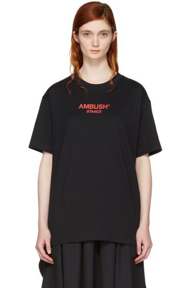 Ambush - SSENSE Exclusive Black Logo T-Shirt