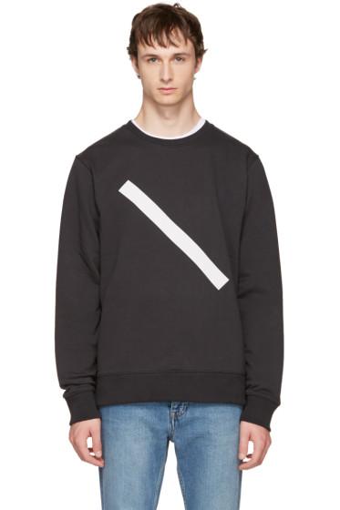 Saturdays NYC - Black Bowery Slash Sweatshirt