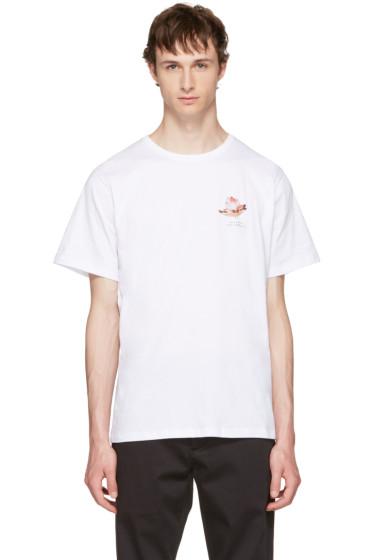 Saturdays NYC - White Lotus Flower T-Shirt