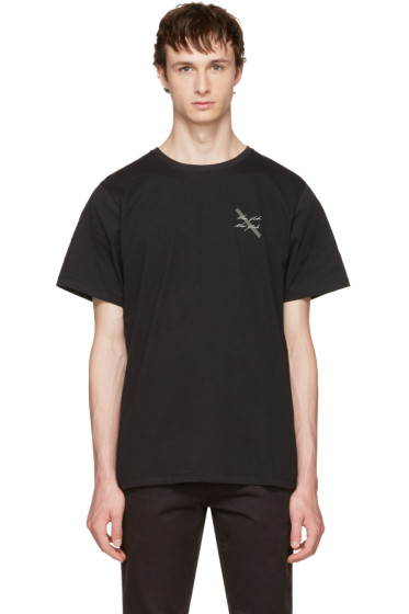 Saturdays NYC - Black 'New York' Script T-Shirt