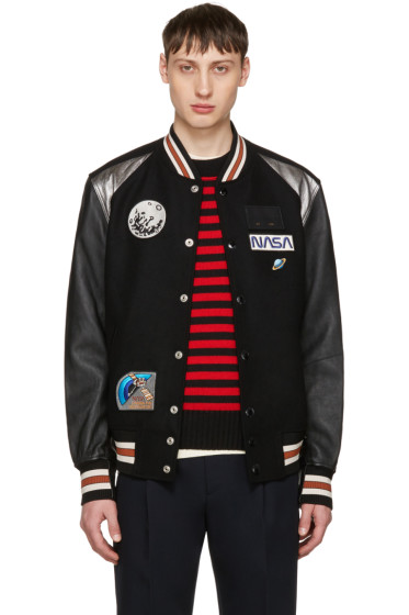 Coach 1941 - Black NASA Patches Varsity Jacket