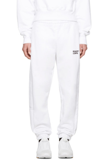 Resort Corps - SSENSE Exclusive White Survetement Lounge Pants