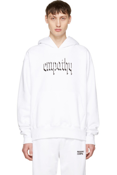 Resort Corps - SSENSE Exclusive White 'Empathy' Hoodie