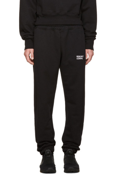 Resort Corps - Black Survetement Lounge Pants