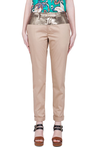 Thakoon - Beige Cropped Pants