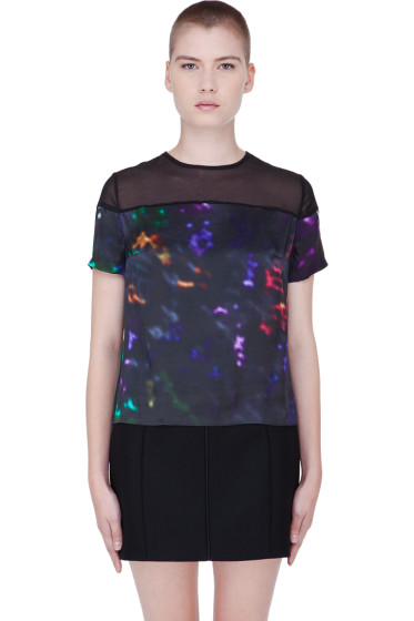 Preen Line - Multicolor Silk Abstract Laxt T-Shirt