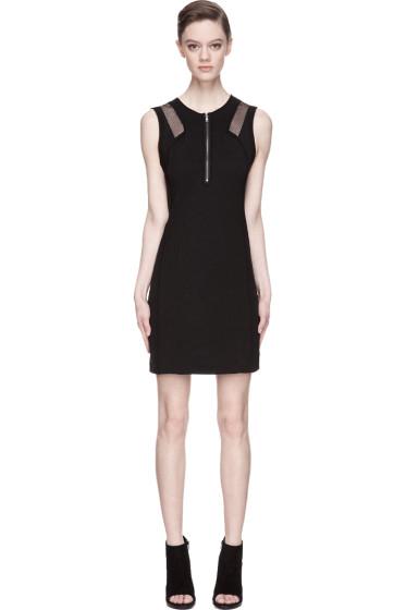 Edun - Black High Twist Crepe Mesh-trimmed Dress
