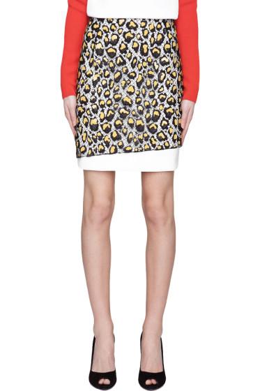 Mugler - White Rubber Applique & Lace Skirt