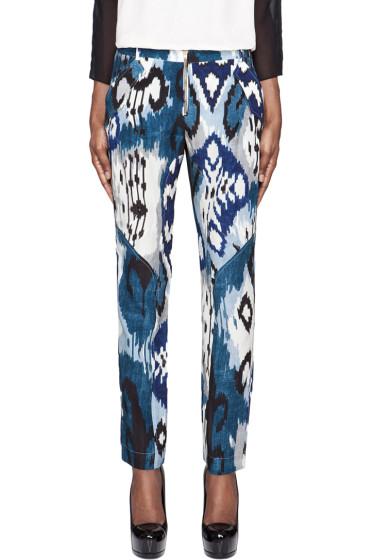 Altuzarra - Blue Printed Silk Simba Trousers