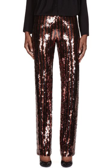 Marc Jacobs - Black & Copper Striped Sequin Trousers