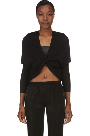 Lanvin - Black Draped Shrug