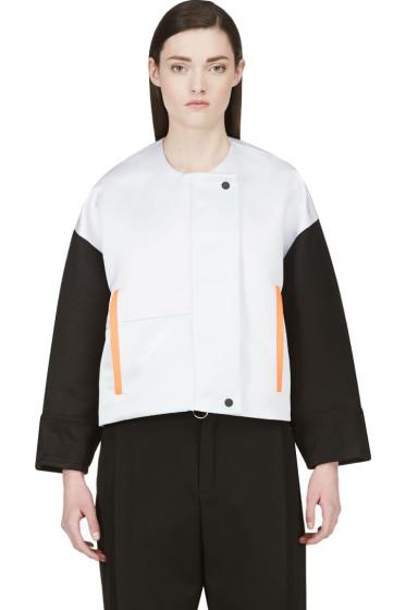 Roksanda - Oyster Grey & Black Bayliss Jacket