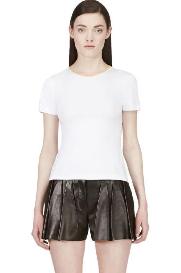 Roksanda - White Contrast Trim T-Shirt