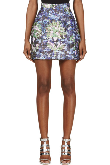 Mary Katrantzou - Blue Midnight Chrysa Skirt
