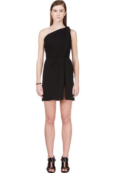 Giambattista Valli - Black One-Shoulder Draped Dress