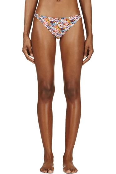 Roseanna - Pink Floral Print Side Strap Bikini Bottom