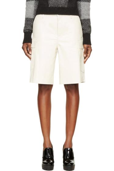 Rag & Bone - Cream Leather Combat Shorts