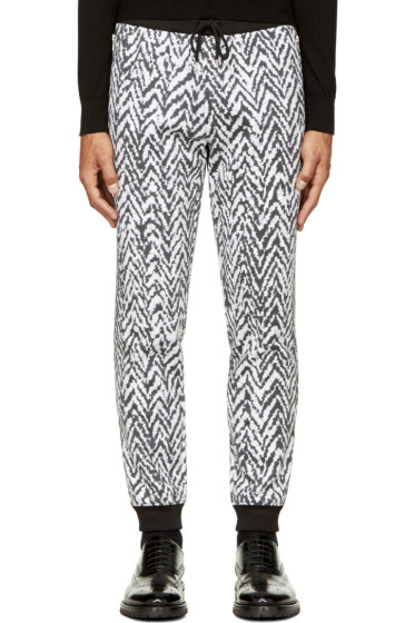 Krisvanassche - Black & White Chevron Lounge Pants