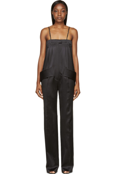 Givenchy - Black Silk Trouser Jumpsuit