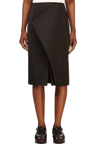 Roksanda - Black Folded Panel Balmont Skirt