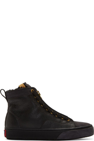 Visvim - Black Leather Skagway Hi-Folk Sneakers