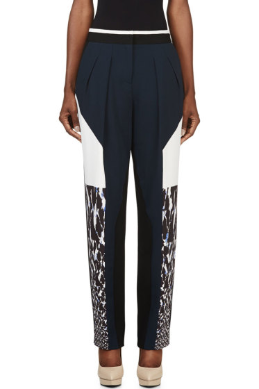 Peter Pilotto - Navy & White Colorblocked Freja Trousers