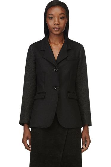 Maiyet - Black Contrasting Sleeves Blazer