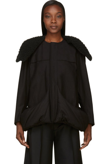 Yohji Yamamoto - Black Insulated Pocket Coat