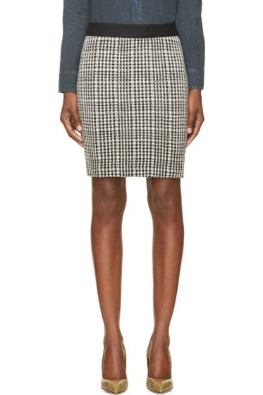 Roseanna - Black & White Houndstooth Buster Skirt