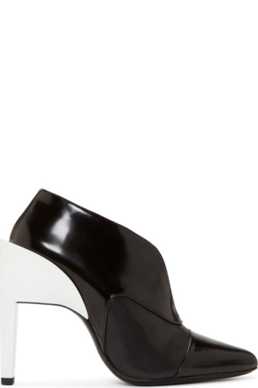 Paco Rabanne - Black Contrast Heel Ankle Boots