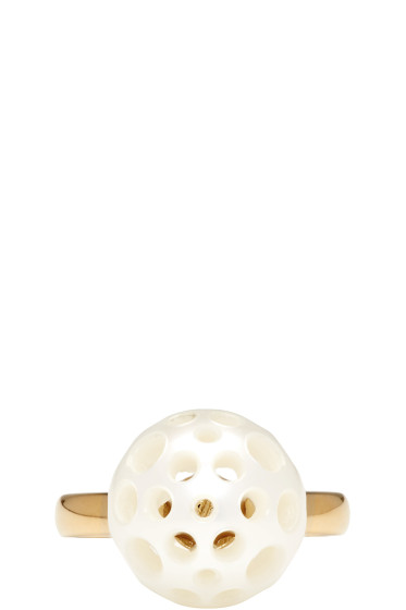 Melanie Georgacopoulos - Gold Drilled Pearl Tasaki Edition Ring