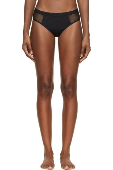 T by Alexander Wang - Black Mesh Panel Bikini Bottoms