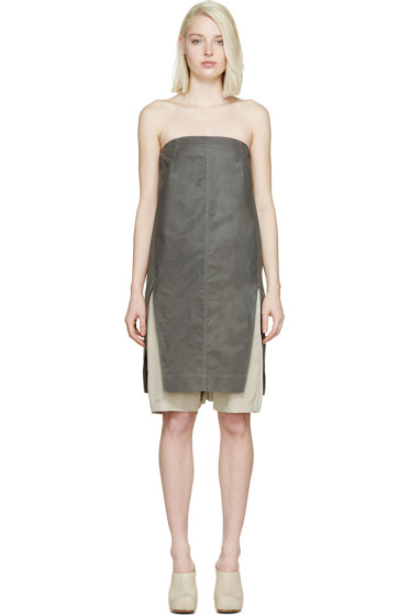 Rick Owens - Grey Strapless Chalice Top