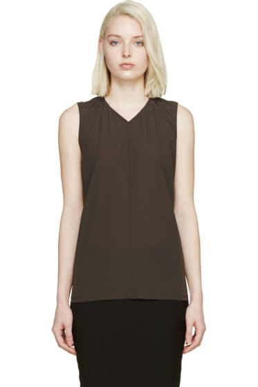 Rick Owens - Olive Drab Soft Shell Tank Top