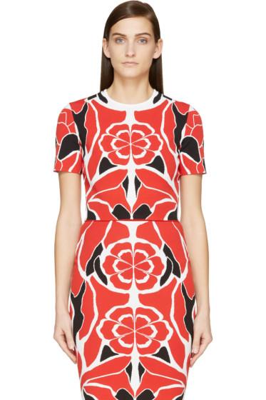 Alexander McQueen - Red Matisse Print Cropped Top