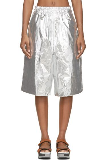 Juun.J - Silver Foil Shorts