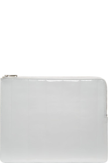 Juun.J - White Patent Leather Tablet Case