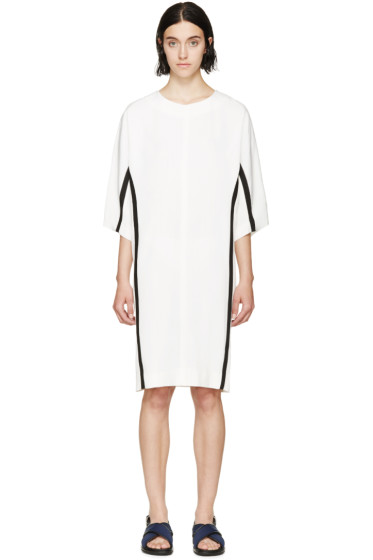 Marni - Beige & Black Cocoon Dress
