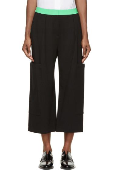 Roksanda - Black & Green Colorblock Monfort Trousers