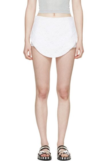 Kenzo - White Eyelet Logo Flying Shorts