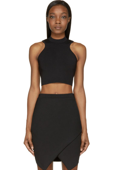 Versace - Black Cropped Knit Top